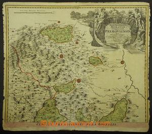189554 - 1720 HABSBURSKÁ MONARCHIE - MAPA PŘEROVSKÉHO KRAJE - PARS BO