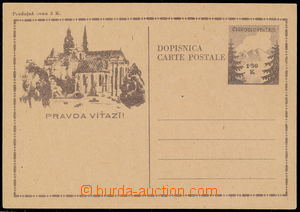 189564 -  CDV74, Košice-issue 1,50 Koruna with text DOPISNICA/ CARTE
