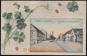 189618 - 1915 DOMAŽLICE - koláž Palackého třída (Hořejší náměstí); pr