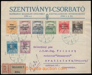 189632 - 1919 Žilinské vydání (Šrobárův přetisk), R-dopis vyfr. zn. P