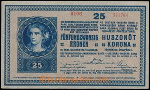 189683 - 1918 Ba.RU12; Pi.23, bankovka 25K, 27.10.1918, série 3106