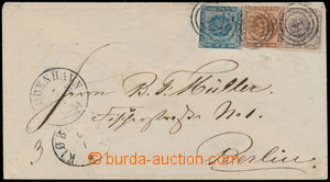 189842 - 1854 letter to Berlin with Mi.3, 4, 6, values 2Sk+4Sk+16Sk,