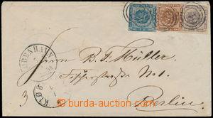 189842 - 1854 dopis do Berlína vyfr. zn. Mi.3, 4, 6, hodnoty 2Sk+4Sk+