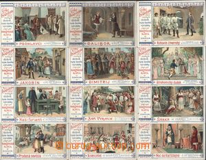189916 - 1900  ADVERTISING CARD - KOLÍNSKÁ KÁVA comp. 12 pcs of litog