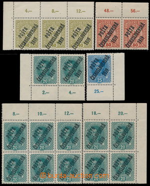190063 -  Pof.39, 40, 42 and 45, set of 13 staps with upper or lower