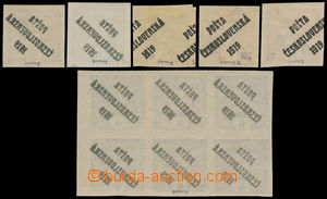190073 -  Pof.60-64, selection of 11 stamps with overprint varieties: