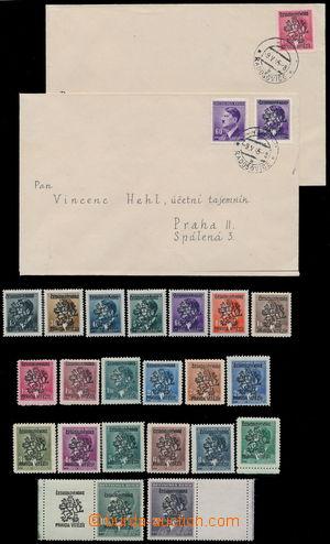 190273 - 1945 ŘÍČANY u PRAHY  3-řádkový černý přetisk Československo
