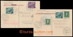 190286 - 1926 PRAGUE - VIENNA, 2 airmail card, 1x with Pof.L4, L5, ad