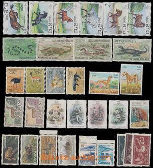 190447 - 1980-1990 [SBÍRKY]  FAUNA  partie námětových zn. na 2 kartác