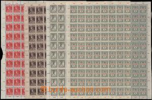 190629 - 1916-18 Mi.180, Spěšná 2f olivová + Mi.213, 215, 217, Karel