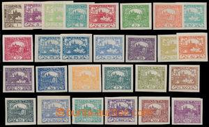 190642 -  Pof.1-26, sestava 27ks, téměř kompletní řada (bez Pof.13N),