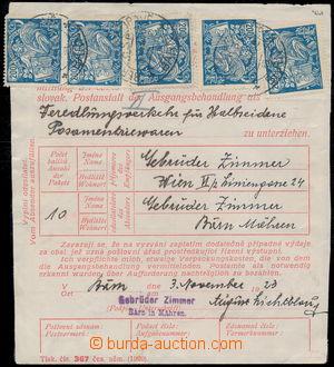 190771 / 578 - Filatelie / ČSR I. - ex PYTLÍČEK / Hospodářství a věda 1923