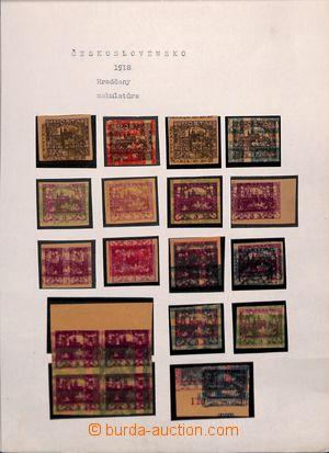 190982 / 994 - Filatelie / ČSR I. / Hradčany 1918 - zkusmé tisky