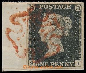 191013 - 1840 SG.2, Penny Black, černá, TD 2, písmena S-I, na výstřiž