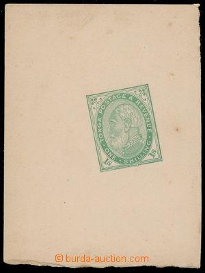 191024 - 1886 ZT pro SG.4, král Jiří I. 1Sh světle zelená, otisk hoto