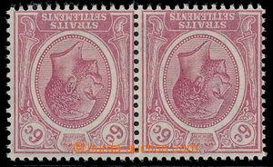 191026 - 1921-1933 SG.227w, 2-páska Jiří V. 6C dull claret, PRŮSVITKA