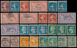 191029 - 1921-1925 Francouzská okupace, 24 známek Rozsévačka, Merson