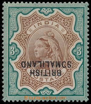 191031 - 1903 SG.23a, indická 3Rp s přetiskem BRITISH SOMALILAND, pře