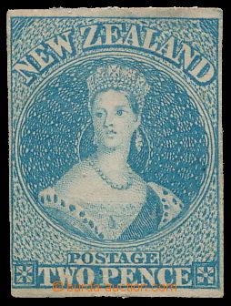 191069 - 1857 SG.10, Chalon Head, 2P modrá, bez průsvitky; při horním