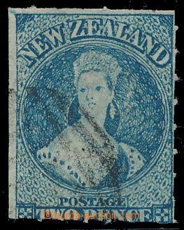 191070 - 1862-1864 SG.50, Chalon Head, 2P tmavě modrá, průsvitka hvěz