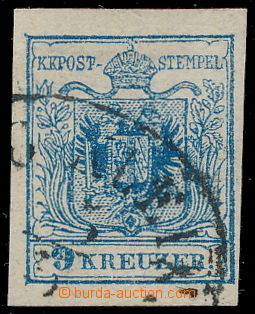 191126 - 1850 Ferch.5IIIa HP, Znak 9Kr IIIa, legendární GESTREIFTES P