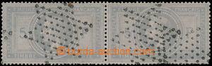 191249 - 1869 Mi.32, 2-páska (!) Napoleon III. 5Fr modrošedá, raz. hv