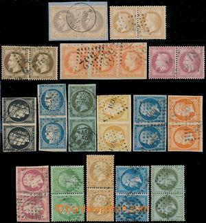 191264 - 1849-1862 Mi.3, 4, 10, 12, 13, 15, 16 aj., celkem 16ks 2-pás