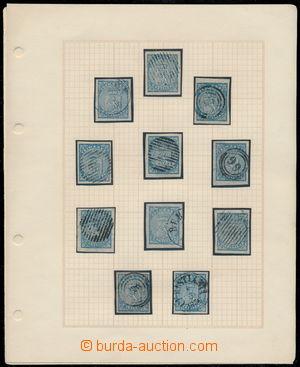 191314 - 1855 Mi.1, Heraldický lev 4 Skilling, sestava 18ks, z toho 2