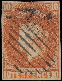 191349 - 1857 SG.9, Viktorie (Perkins Bacon) 10P matně oranžová dull
