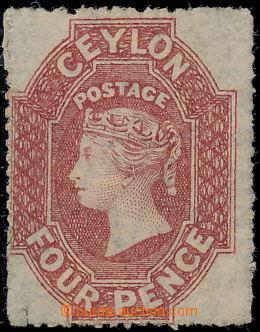 191350 - 1861-1864 SG.30, Viktorie 4P tmavě růžovočervená rough perfo