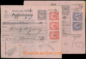 191393 - 1918 VÁLEČNÉ / 2x větší díl uherské poštovní průvodky, 1x vy