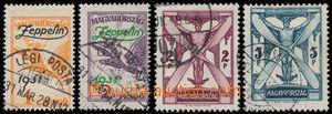191436 - 1933 Mi.478-479, Zeppelin 1P a 2P + koncové hodnoty 2P a 5P