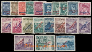 191515 - 1939 Alb.1-22, kompletní přetisková emise, hodnota 10Kč se s