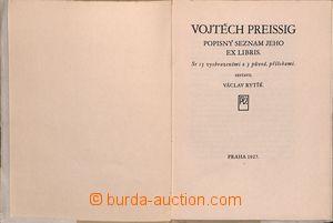 191540 - 1927 PREISSIG Vojtěch, Popisný seznam jeho ex libris, 13 vyo