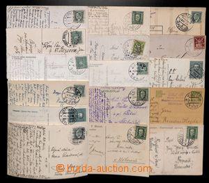 191610 - 1923-1936 sestava 16ks pohlednic a lístků s různými razítky