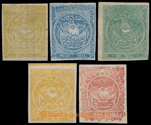 191636 - 1865-1872 Sc.1, 2, 4-6, set of 5 stamps of the first issue C