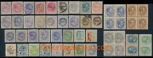 191642 - 1881-1888 sestava 50 známek Alfonso XII. a fiskální Znak s p