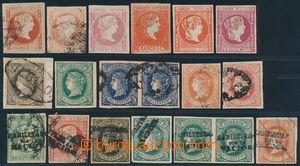 191643 - 1859-1868 Sc.9, 9b, 10, 12, 14, 15, 30, 34 aj., sestava 19ks