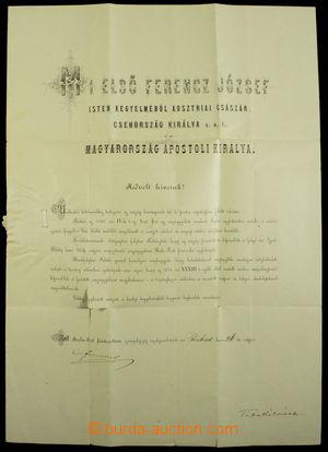 191656 - 1887 FRANTIŠEK JOSEF I. (1830-1916), rakouský císař, český a