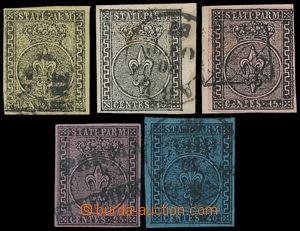 191677 - 1852 Sass.1-5, Znak 5C-40C, bezvadná kompletní série, 5C kra
