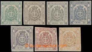 191678 - 1859 Sass.12-18, Governo Provisorio 5C-80C, včetně vzácných
