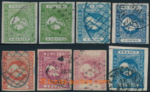 191682 - 1859-1862 BUENOS AIRES - Sc.9, 9b, 10, 10b, 11, 11a, 12b, 13