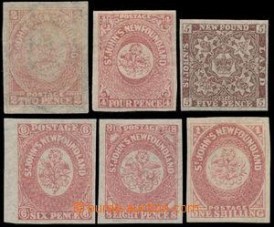 191693 - 1862-1864 SG.17-20, 22-23, Heraldické květiny 2P - 1Sh, hodn
