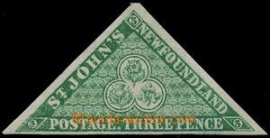 191694 - 1860 SG.11, Trojúhelníková St. John´s  3P zelená; bezvadný k