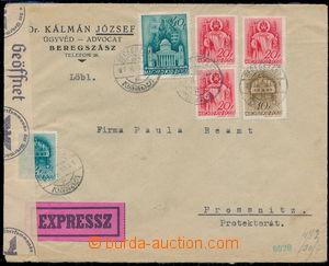 191760 - 1941 BEREHOVO  firemní Ex-dopis zaslaný do Protektorátu, boh