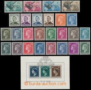 191844 - 1949 Mi.442-459, 460-463, 464-467, Bl.7, téměř kompletní roč