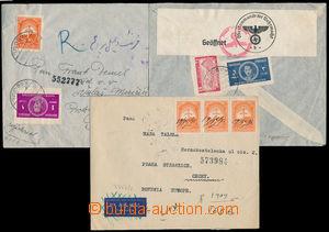 191968 - 1940-1941 sestava 3ks R-dopisů adresovaných do Protektorátu