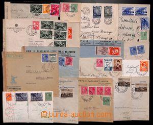 191998 - 1940-1943 [SBÍRKY]  sestava 18ks dopisů adresovaných převážn