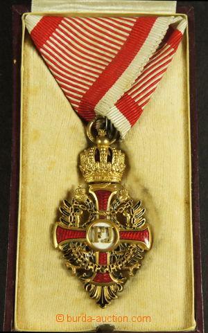 192015 - 1849 Řád Františka Josefa, F.J.O. 1849 s vojenskou stuhou, b