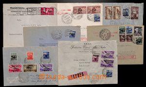 192112 - 1948-1952 TERST ZONA A; sestava 7 dopisů, FDC Sass.30-32,A17